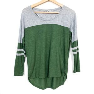 🍉Cotton on | green and gray jersey tee